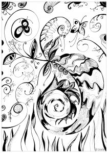 Coloring page adult Volutes