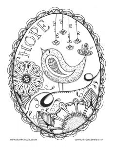 Coloring page adults anti stress jennifer 5