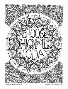 Coloring page adults anti stress jennifer 6