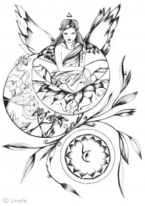 Coloring pages adults i m posed and serene by urielle