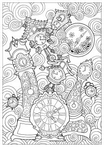 Coloring quirky clocks konstantinos liaramantzas