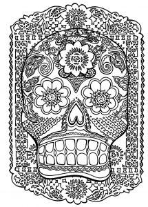 Coloring skull head antistress