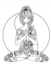 Coloring yoga