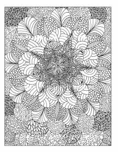 coloring-adult-rosaces free to print