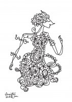 coloring-adult-javanese-doll-2 free to print