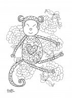 coloring-adult-year-of-the-monkey-3 free to print