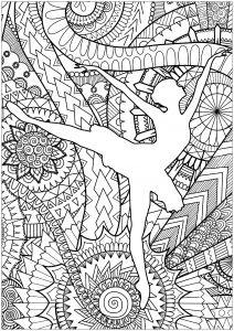 Coloriage Anti Stress Danse.Dance Coloring Pages For Adults
