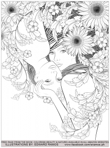 Coloring beauty and nature edward ramos 1