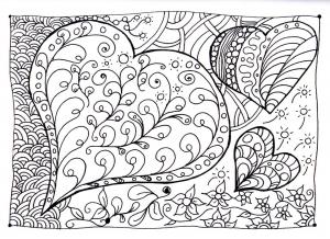 coloring heart zen