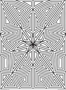 Coloring maze zen flowers