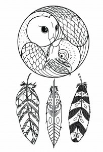 dream catcher coloring pages zen and anti stress coloring pages for adults justcolor 4282