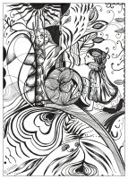 coloring page adult reflection of love urielle