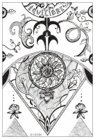 coloring page adult urielle balance equilibre