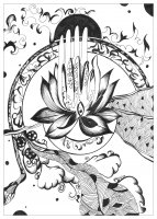 coloring page adult urielle peace and serenity