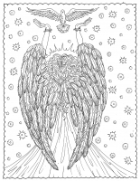 Coloring page angel of liberty by deborah muller