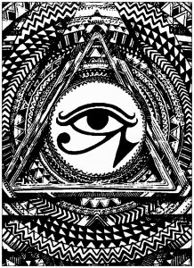coloring page mystic eye