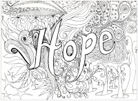 coloring pages adults hope free to print