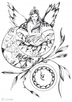 coloring-pages-adults-i-m-posed-and-serene-by-urielle free to print