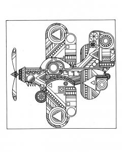 coloring-plane-zen free to print