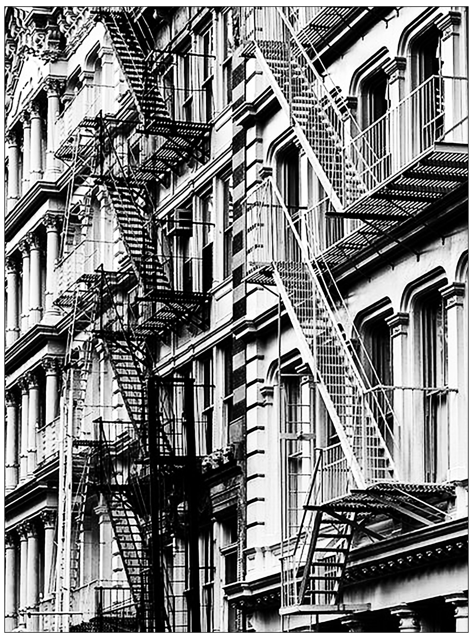 New York Stairs Architecture Adult Coloring Pages