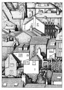 coloring-adult-city-roofs free to print