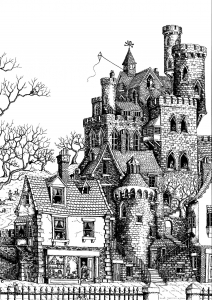 coloring-architecture-castle