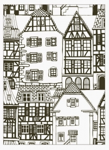 coloring-house-style-alsace-france
