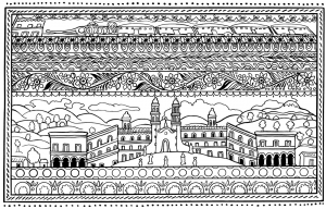 coloring-spanish-architecture
