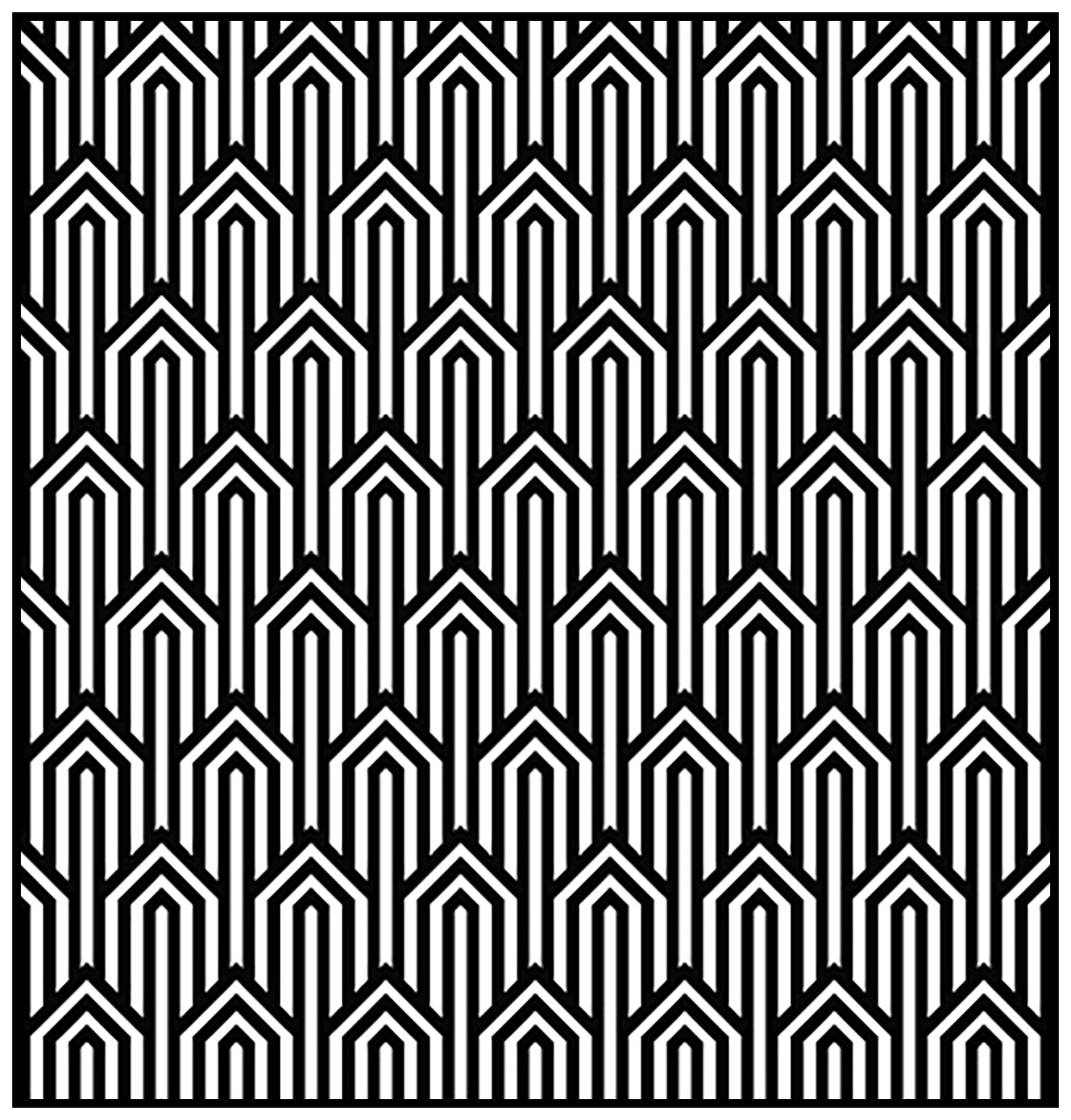 Geometric patterns art deco 1 - Art Deco Adult Coloring Pages