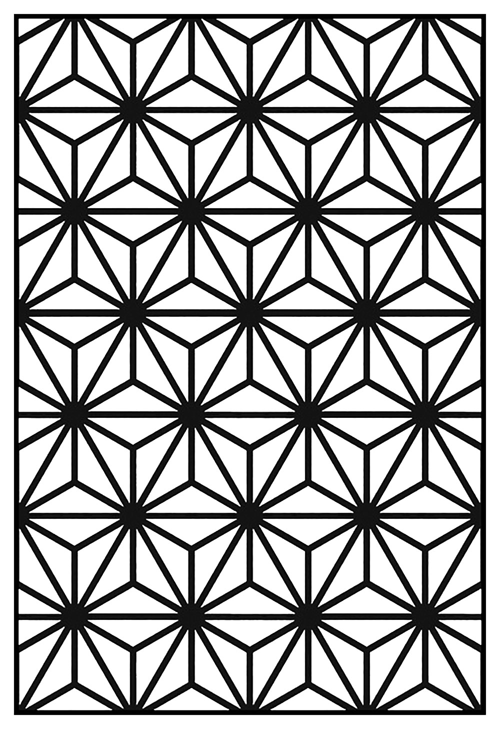 Geometric patterns art deco 10 art deco coloring for Arts et decoration abonnement
