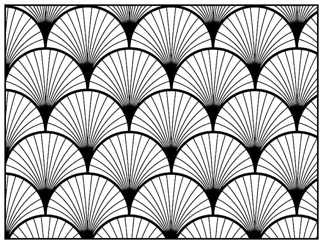 Geometric patterns art deco 2 Art deco Coloring pages for