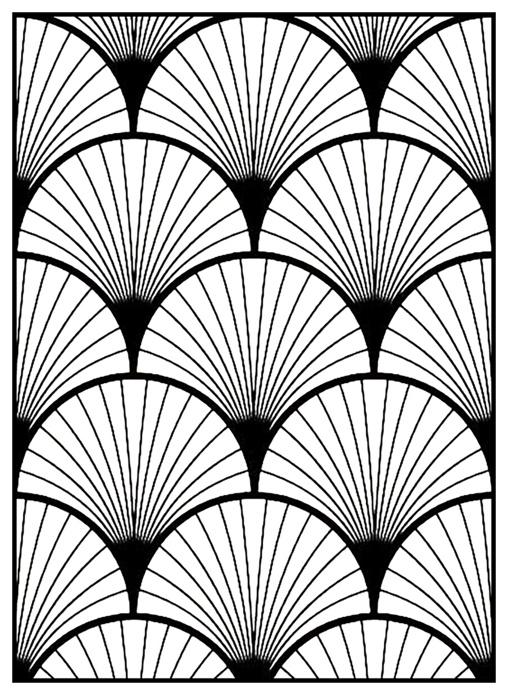 Geometric patterns art deco 3 - Art Deco Adult Coloring Pages