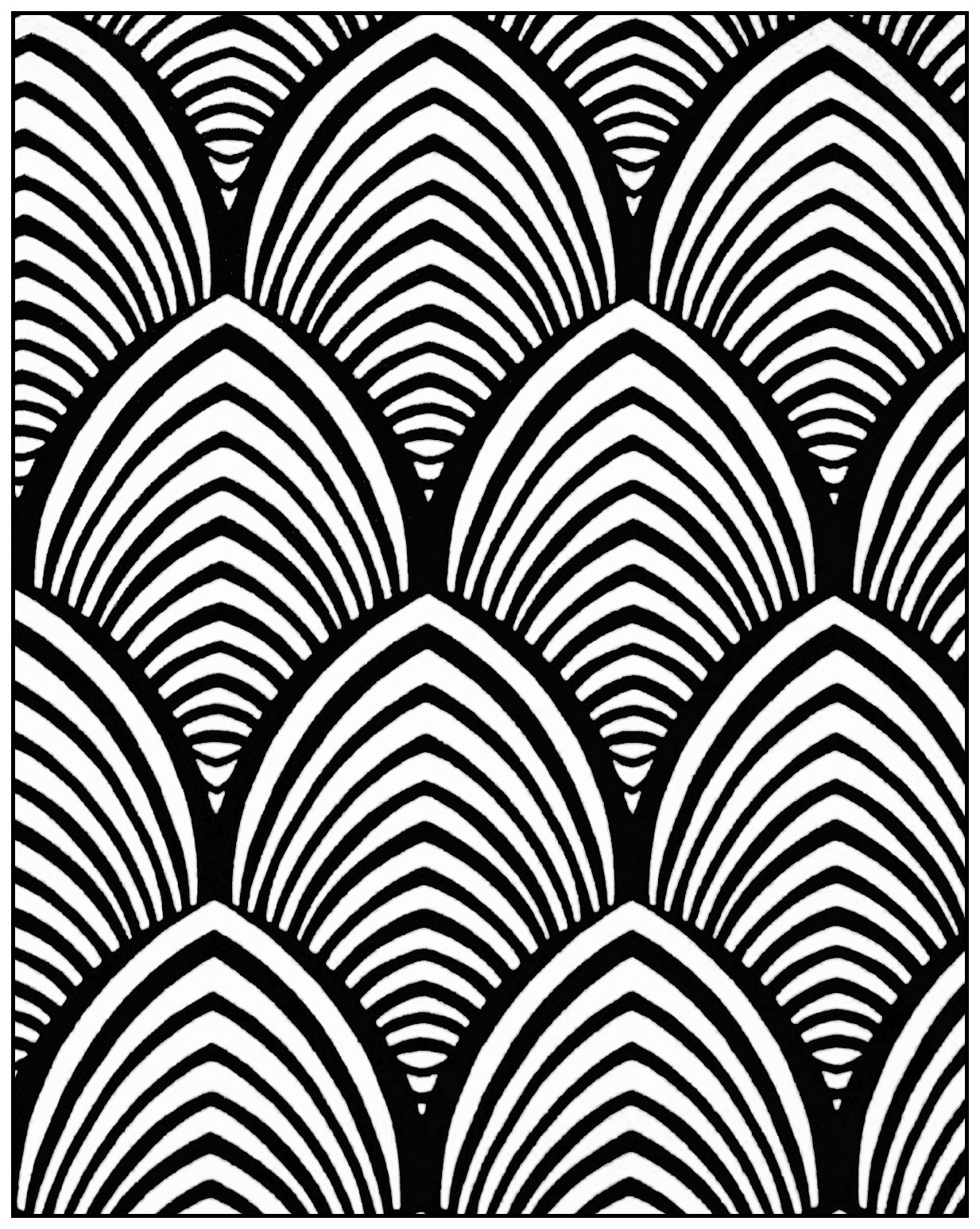 art deco pattern adult coloring page style n4 from the gallery - Coloring Pages Patterns Geometric