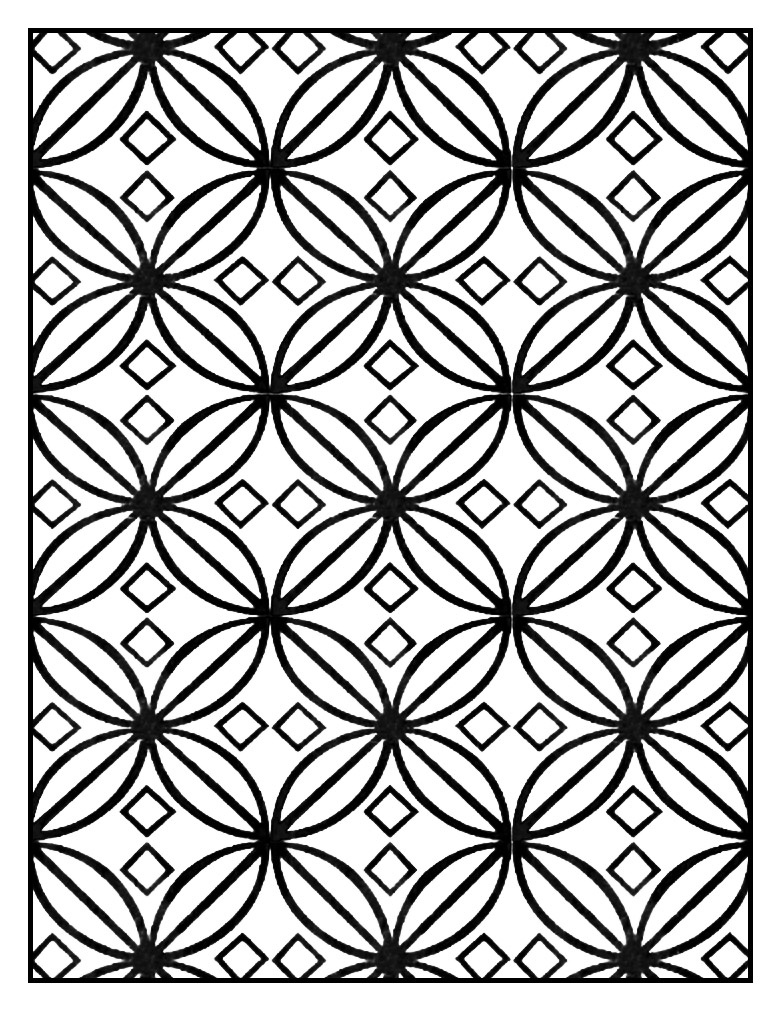 Geometric Patterns Art Deco 6 Art Deco Adult Coloring Pages