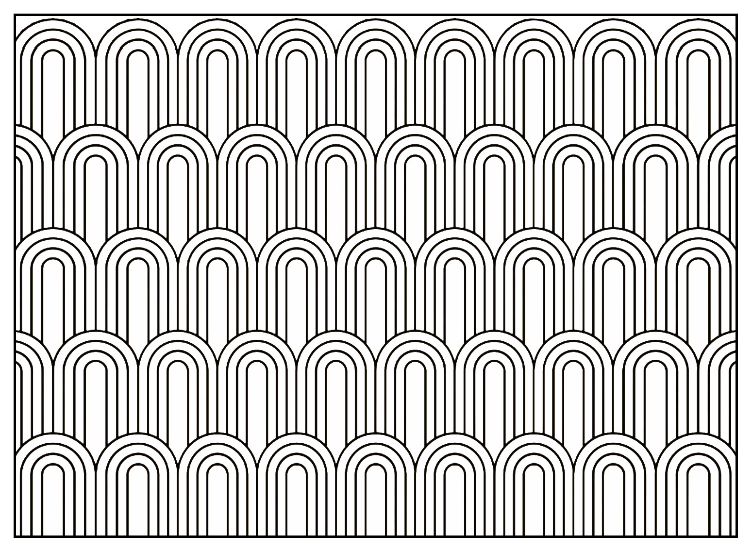 Geometric Patterns Art Deco 7 Art Deco Adult Coloring Pages