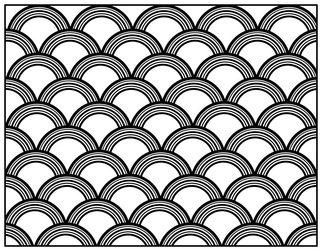 Art Déco pattern to color - Style n°8