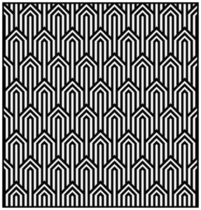 coloring adult geometric patterns art deco 1