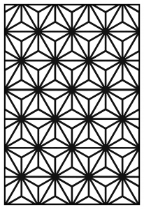 coloring adult geometric patterns art deco 10