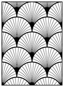 Coloring adult geometric patterns art deco 3