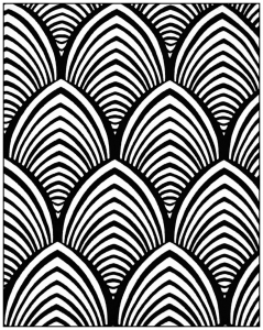 Coloring adult geometric patterns art deco 4