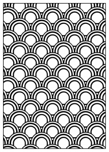 Coloring adult geometric patterns art deco 5
