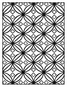 coloring adult geometric patterns art deco 6