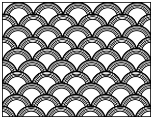 coloring adult geometric patterns art deco 8