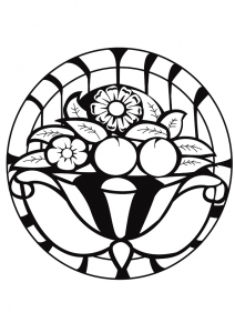 Coloring page adults mandala artdeco