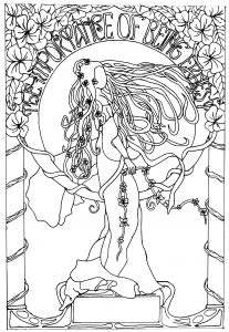 Coloring adult dessin inspiration art nouveau
