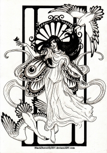Coloring adult dessin inspiration art nouveau3