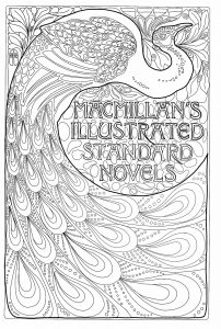 Art Nouveau book cover with a peacock