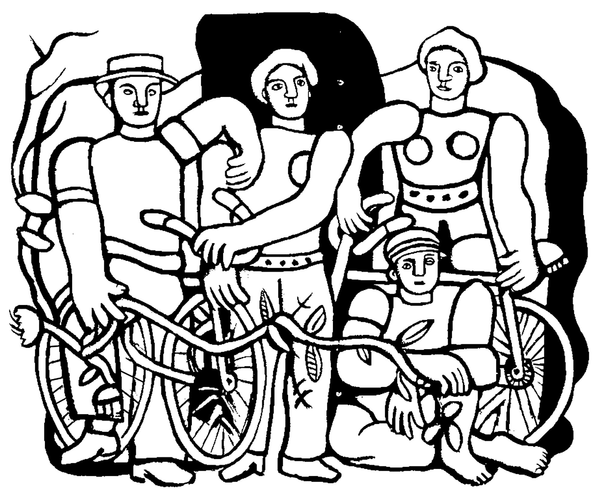 fernand leger the beautiful team master pieces coloring pages