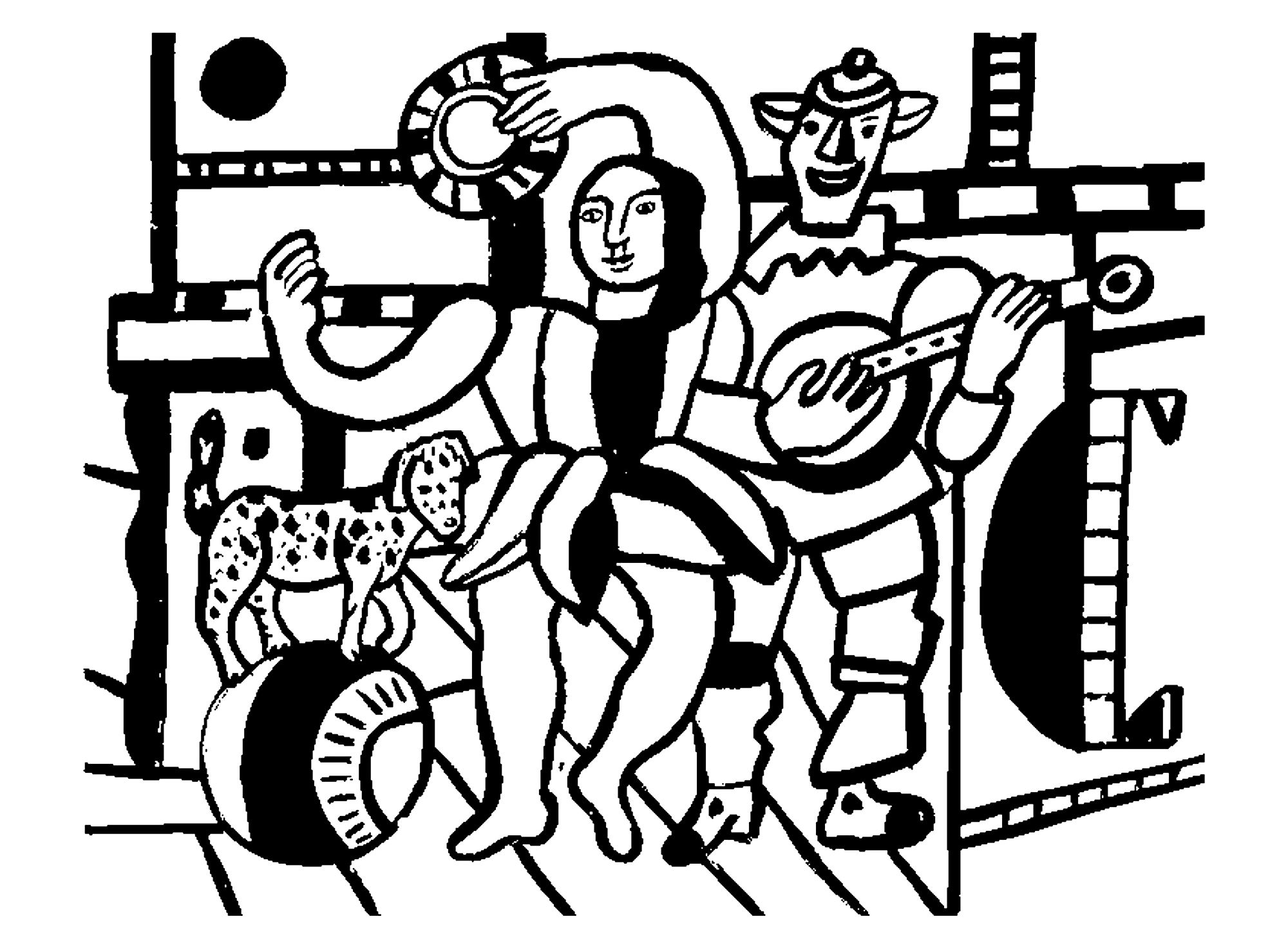 Fernand leger the dog on the ball - Image with : Fernand Leger
