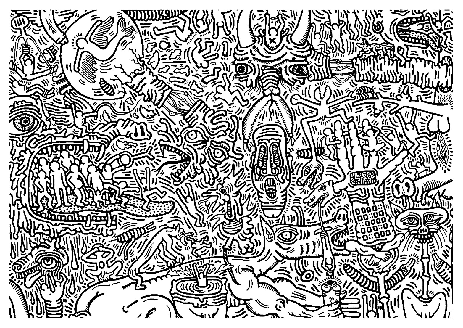 Uncategorized Keith Haring Coloring Pages keith haring 9 art coloring pages for kids to print color image with pop artist from